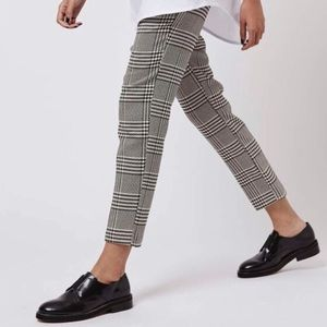 H&M Houndstooth Plaid Pants
